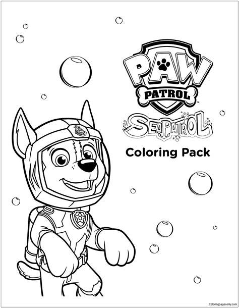 sea paw patrol coloring page paw patrol coloring pages paw patrol coloring pages paw patrol