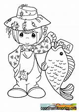 Coloring Pages Fishing Precious Moments Sheets Printable Colouring Fish Catching Getcolorings Drawings Print sketch template