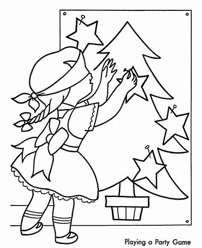 Coloring Christmas Pages Party Games Fun Sheets