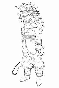 Dibujo De Goku Fase 4 Para Colorear   Descargar Imagenes ...