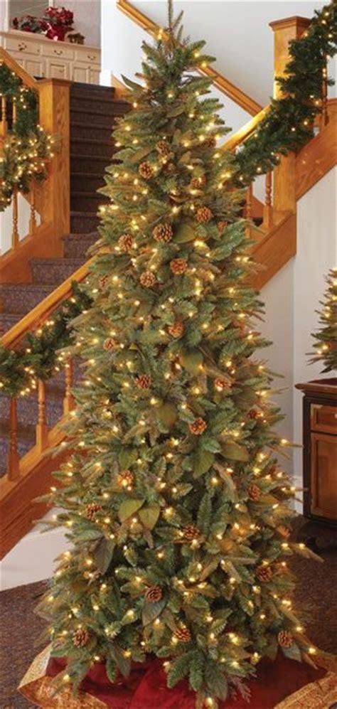 narrow christmas trees artificial 6 5 foot prelit artificial christmas tree green river 1896