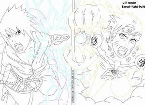 Sasuke vs Naruto Final Battle Lineart by IITheDarkness94II ...