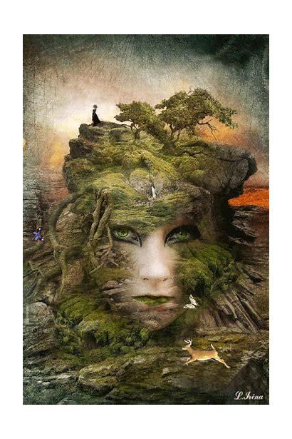 Nature Mother Deviantart Artwork Gifs Greenfeed Earth