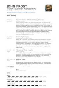 exle of academic advisor resume academic advisor resume sles visualcv resume sles database