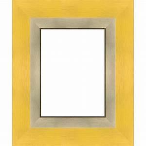 Cadre Marie Louise : cadre tout format jaune marie louise filet or cadre toile ~ Melissatoandfro.com Idées de Décoration