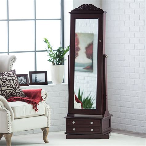 Cheval Mirror Jewelry Armoire by Cheval Mirror Jewelry Armoire Swivel Floor Standing