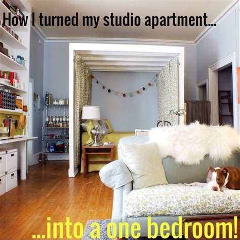 Converting Living Room Into Master Bedroom by How I Turned My Studio Apartment Into A One Bedroom The
