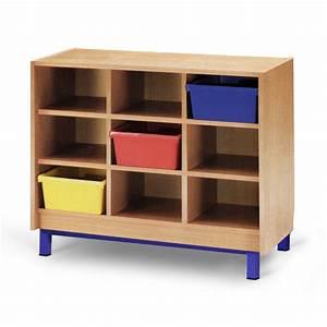 Meuble Rangement Case : meuble casier 9 cases mobilier maternelle mobilier scolaire ~ Teatrodelosmanantiales.com Idées de Décoration