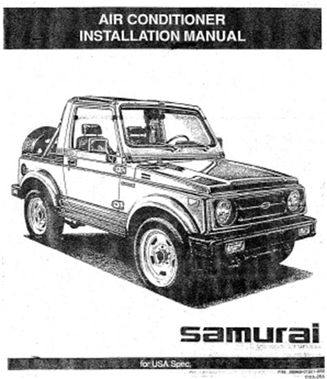 best auto repair manual 1992 suzuki samurai engine control repair manuals suzuki samurai 1992 air conditioner installation manual