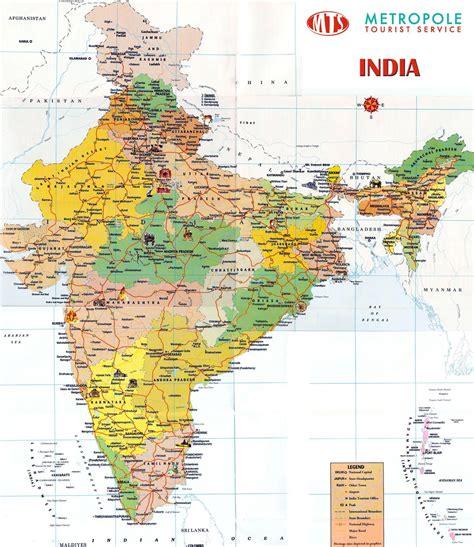 india landkaart afdrukbare plattegronden van india