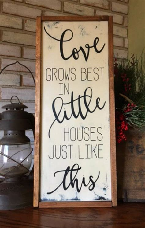 love grows    houses    wood sign framed sign gallery wall