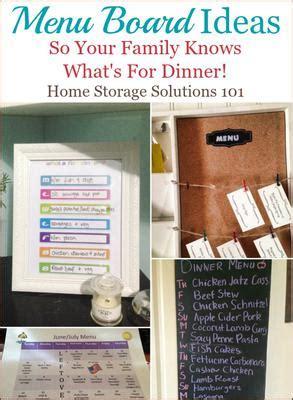 menu board ideas   family  whats  dinner
