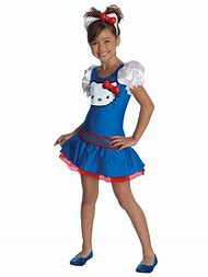 blue hello kitty girls costume