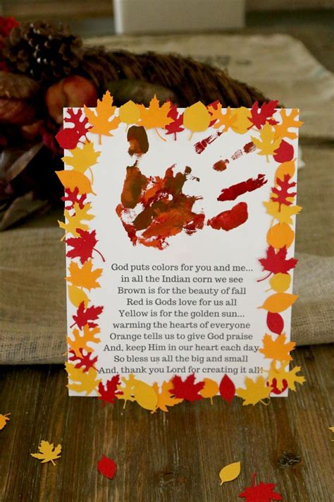 thanksgiving handprint craft  kids sunday school