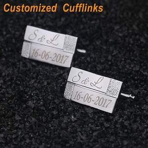 personalized cufflinks laser engraved classic customized With wedding gifts for men