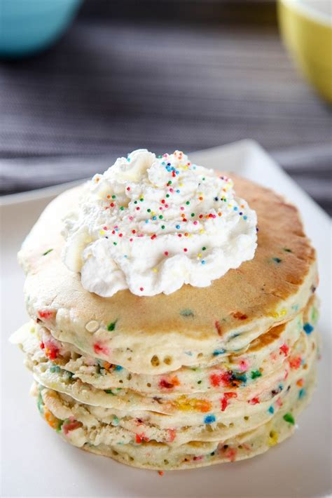 cake batter funfetti pancakes baking beauty