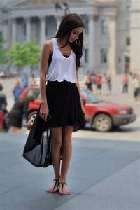 Gorgeous high low black skirt outfit Mullet Skirts #2dayslook #MulletSkirts #susan257892 # ...
