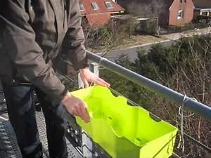 Balkonkasten Halterung Geländer : blueman halterung gel nder easy youtube ~ Watch28wear.com Haus und Dekorationen