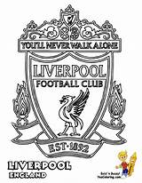 Football Liverpool Soccer Colouring Coloring Pages English Fc Club Futbol Printable Manchester Yescoloring United Chelsea Teams Sheets Logos Fifa Cool sketch template
