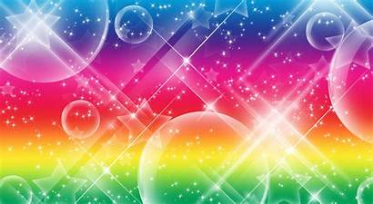 Rainbow Background Backgrounds Magical Glitter Wallpapers Heart