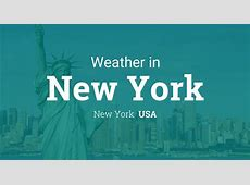 Weather for New York, New York, USA