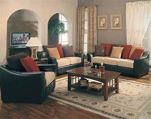 Black and brown sofa wood flooring color to complement for Red and brown sectional sofa