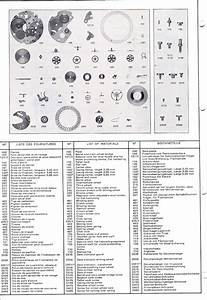 Valjoux Calibre 7740  7741 Series Chronograph Parts Manual