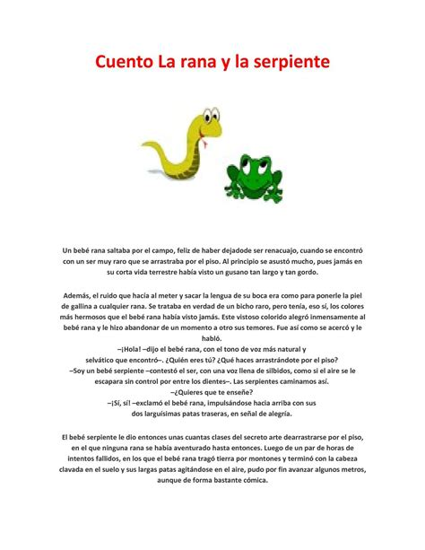 Animal Farm Resumen Corto by Calam 233 O Cuento La Rana Y La Serpiente