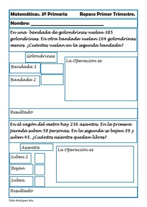 Matemáticas tercero de primaria 29 El Portal de Educapeques