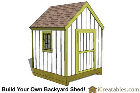8x8 shed floor plans 8x8 storage shed plans easy to build designs how to