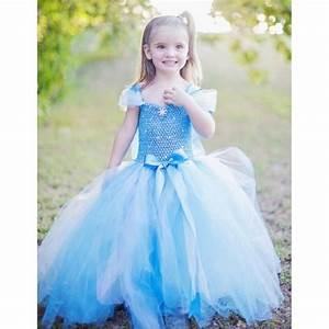 surprise robe voile bleu reine des neiges robe d39ete With robe princesse des neiges