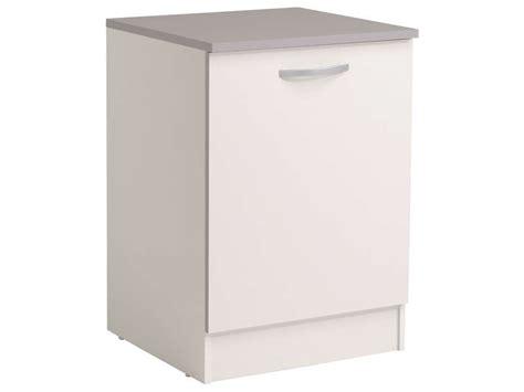 meuble cuisine 60 cm meuble bas 60 cm 1 porte spoon coloris blanc vente de