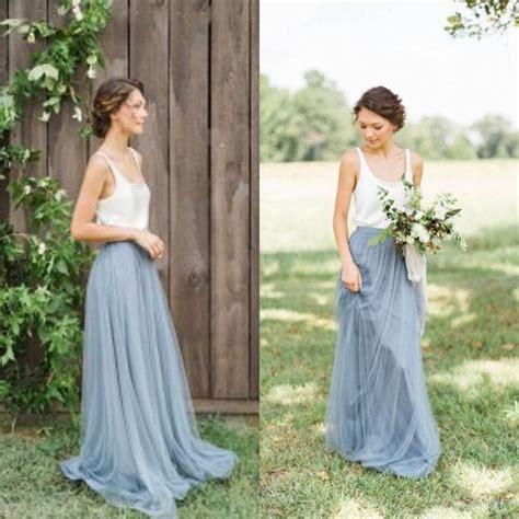 vintage two tone bridesmaid dresses garden wedding