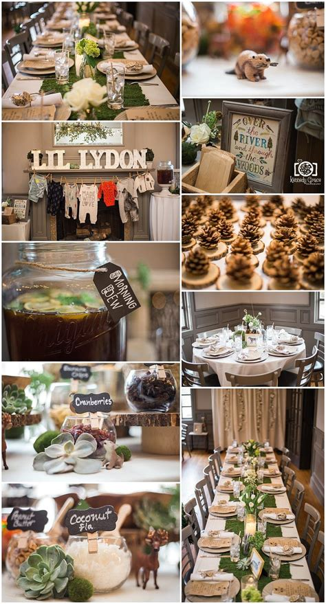 decorations for a baby shower kasi s woodsy baby shower