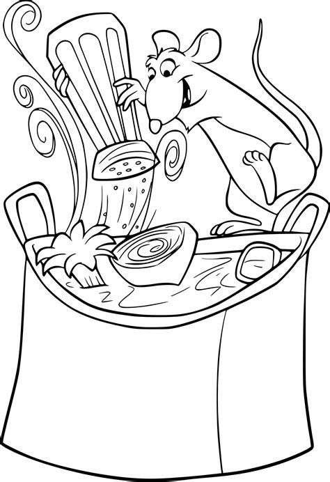 dessin animé de cuisine coloriage cuisine ratatouille à imprimer sur coloriages info