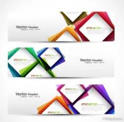 banner designer 4 designer abstract modern graphics banner02 vector
