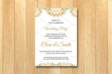 wedding invitation card template wedding templates creative market