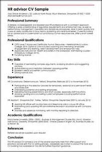 Human Resources Curriculum Vitae Exles by Hr Advisor Cv Sle Myperfectcv
