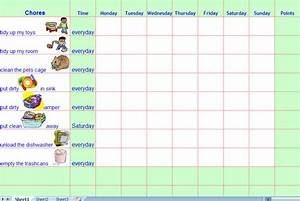 Chore calendar for kids the mumsy blog for Chore list template for kids