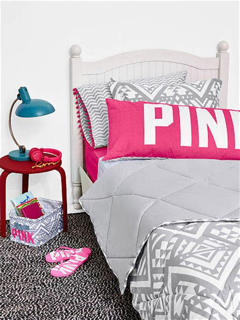 reversible quilted comforter pink from vs pink
