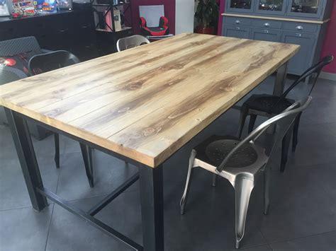table cuisine industrielle fabriquer une console avec tiroir 20171003202015 tiawuk com