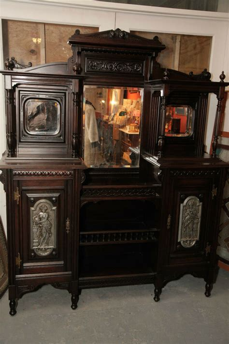 Etagere Cabinet by Antique Mahogany Eastlake 1800s Etagere Cabinet