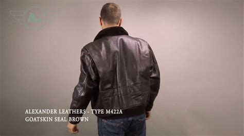 Alexander Leathers Type M422a Goatskin Seal Brown