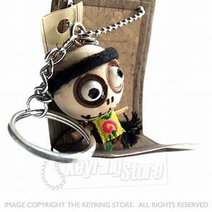 Voodoo Doll Traditional Dress Keyring - The Keyring Store