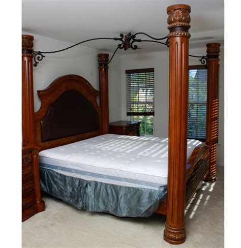 canopy bed frame king size column canopy bed frame ebth