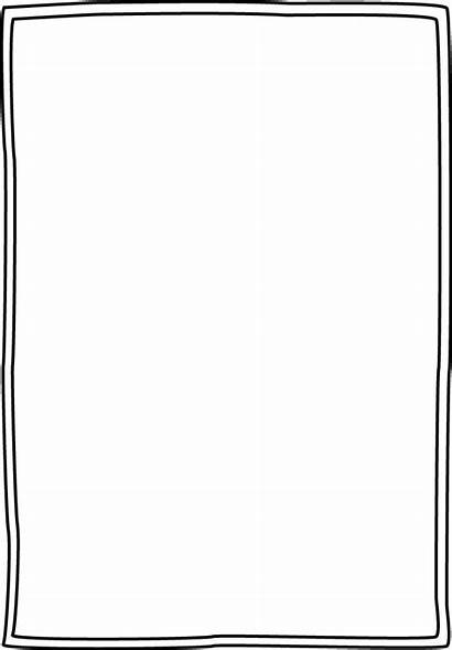Border Borders Simple Frame Clipart Solid Transparent