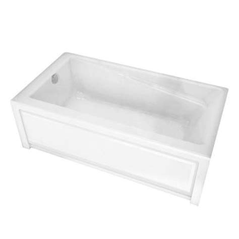 maax new town 5 ft left drain soaking tub in white 105456