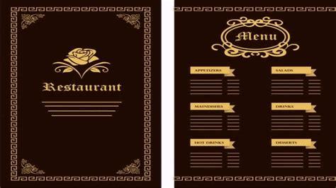 Free Menu Design Templates by Restaurant Menu Design Templates Free