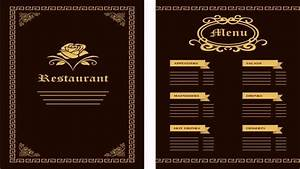 restaurant menu design templates free download youtube With create a menu template free