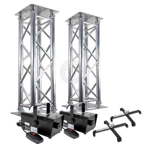 dj light stand 2x professional dj lighting stands silver truss podium